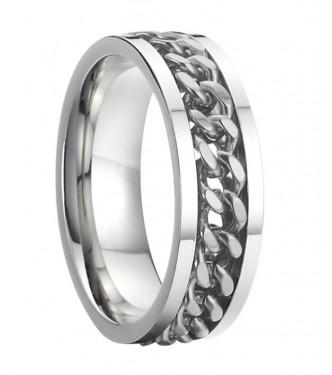 Izjemno detajliran prstan iz nerjavečega jekla