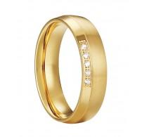 """Edinstven prstan iz kirurškega jekla v zlati barvi """"Amalija"""""""