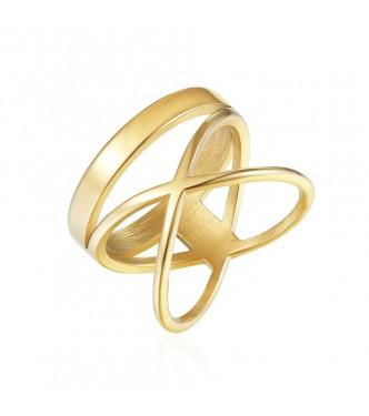 Čudovit prstan v geometričnem stilu