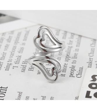 """Izjemen prstan """"Double Love Heart"""""""