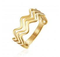 Ljubek prstan z nežnimi valovi
