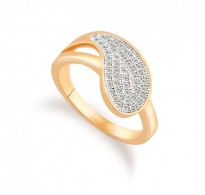 Edinstven prstan s kristali v obliki kapljice