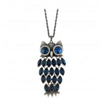 """Trendovski obesek z verižico """" Cute Owl"""" s kristali Swarovski elements"""