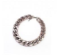 Modna ogrlica iz 18K bele pozlate