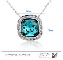 Luksuzen obesek in verižica s pristnimi kristali Swarovski elements
