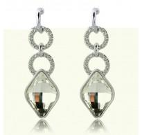 Modni viseči uhani z razkošnimi kristali