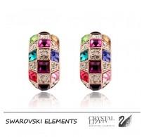 Luksuzni pozlačeni uhani s kristali Swarovski elements