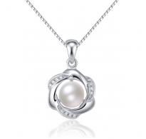Čaroben srebrn obesek z ljubko perlo in verižica