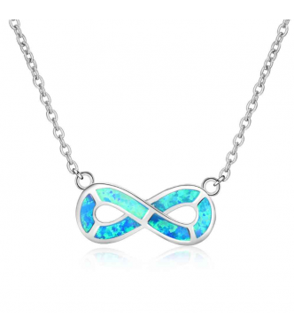 Čarobna srebrna ogrlica s prekrasnimi modrimi opali