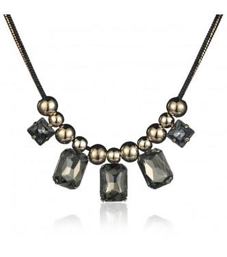 Ogrlica, izjemno modna, 18k pozlata s čudovitimi kristali
