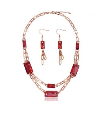Unikaten set ogrlice in uhanov s pristnimi kristali Swarovski elements