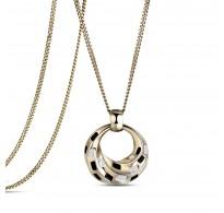 Trendy ogrlica, 18K rumena pozlata v kombinaciji z emajlom