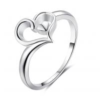 """Graciozen in subtilen prstan """" Amazing Heart"""" iz srebra čistine 925"""