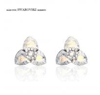 Bleščeči uhani s pristnimi kristali Swarovski elements