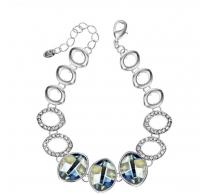 Glamurozna zapestnica z omamnimi kristali Swarovski elements